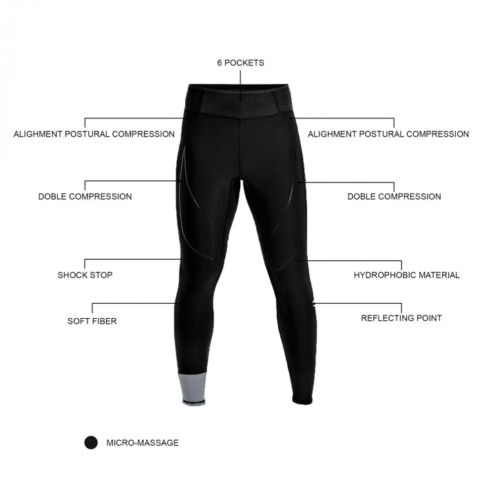 FULL LENGTH DOUBLE COMPRESSION PANTS WITH POCKET