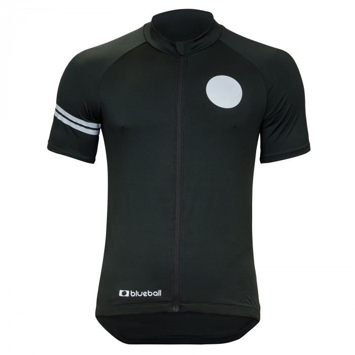 cycling compression jersey short sleeve black front