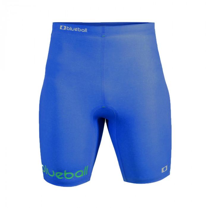 watersport compression short pants for men front blue