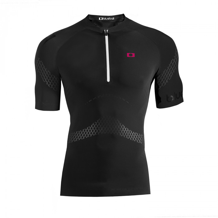Watersport compression men tshirt with zipper front