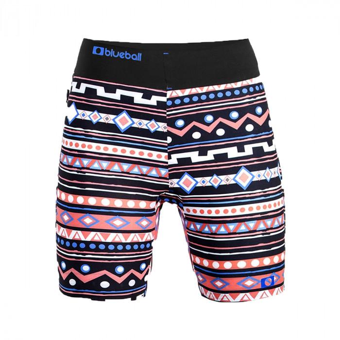 watersport ladie compression shorts front aztec
