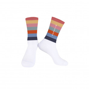 White with multicolor Knitting socks