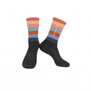 Black with multicolor Knitting socks