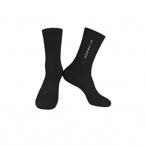 Black with white logo Knitting socks