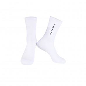 White with black logo Knitting socks