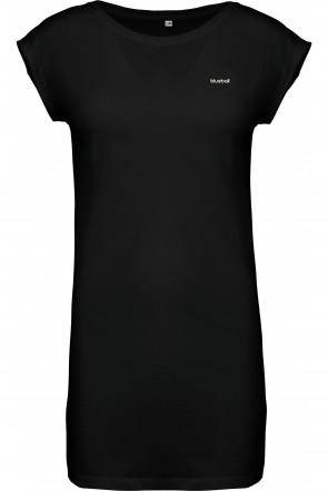 Wide black dress