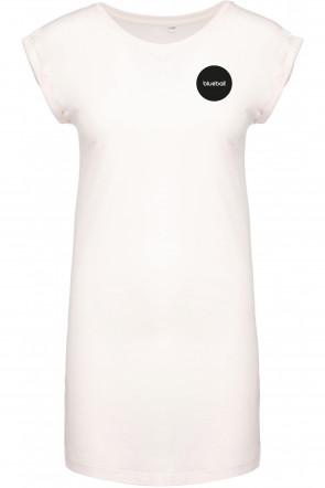 White wide dress