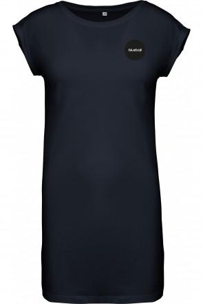 Wide dress in dark blue