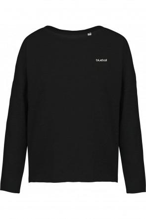 Wide black sweatshirt