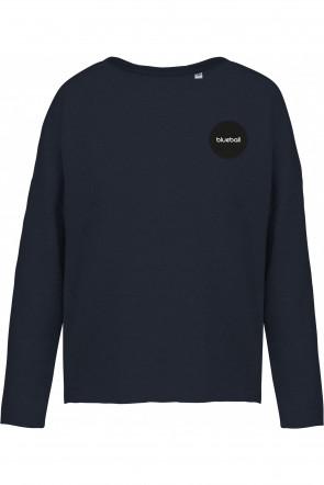Wide dark blue sweatshirt