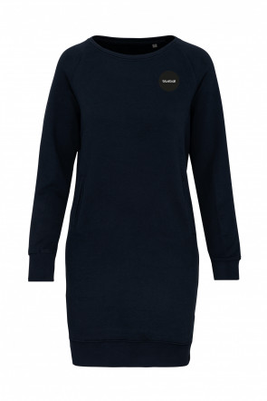 Dark blue plush organic cotton dress