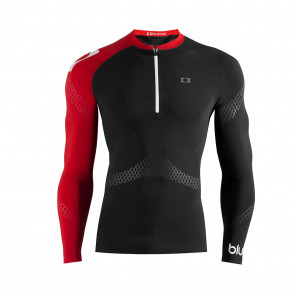 watersport compression tshirt long sleeve with zipper front